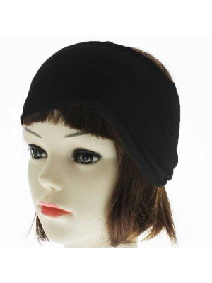 Plain 4.5cm Headbands - Black