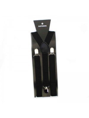 Mens Suspender Braces Black 35mm