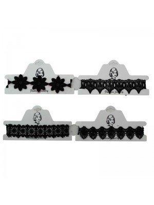 Black Lace Choker - Assorted Designs