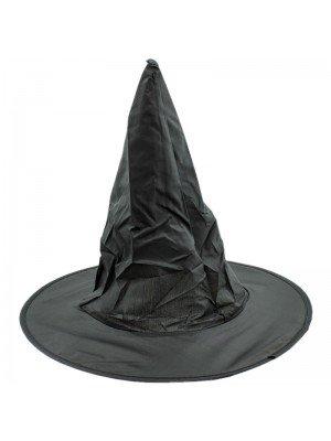 Black Fancy Dress Witch Hat - 28cm