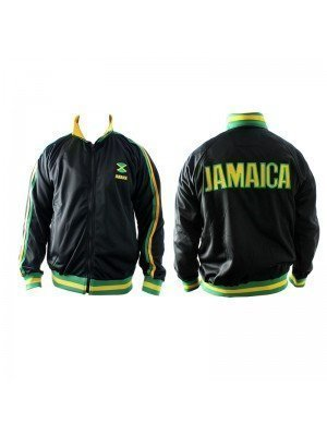 Black Jamaican Theme Jacket - Assorted Sizes