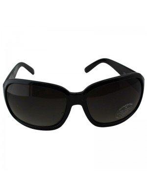 Large Oval Sunglasses - Black