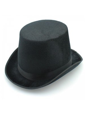 Black Trilby With A Ribbon - Velvet