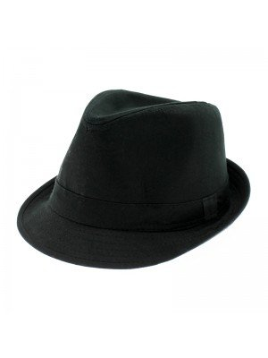 Black Trilby With Black Band