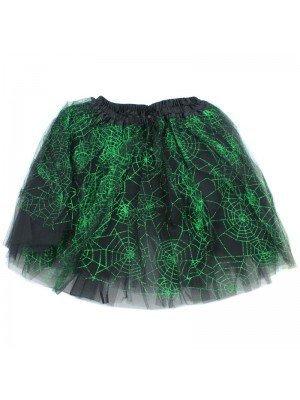 Black Tutu Skirt With Green Glitter Design