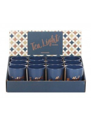 Wholesale Blue Festive Tealight Holder