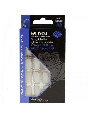 Wholesale Royal Cosmetics 'Short Round' 24 Glue-on Nail Tips