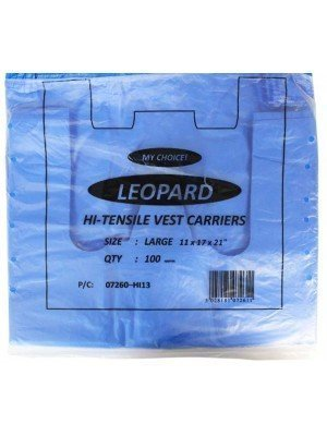 lue Plastic HD Vest Carrier Bag (11 x 17 x 21) inches