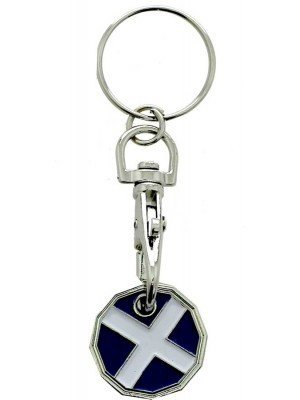 Wholesale Trolley Coin Keyrings-St Andrew