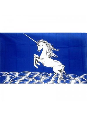 Blue Unicorn Flag - 5ft x 3ft