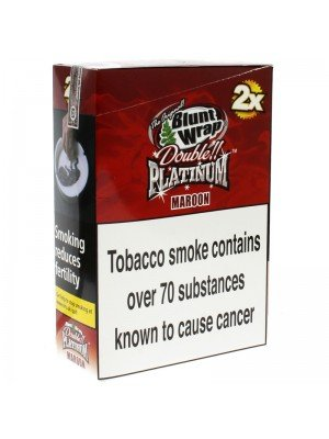 Blunt Wrap Double Platinum 2x - Maroon (Wet Cherry)