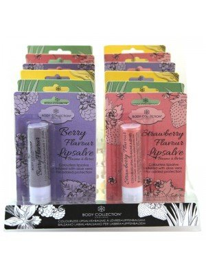 Wholesale Body Collection Colourless Lip Salve Lip Balm - Assorted