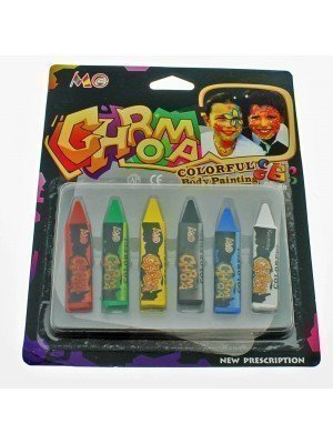 Body Paint Crayons- Assorted Colours