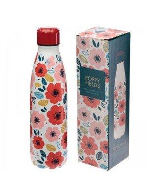 Poppy Fields Stainless Steel Hot & Cold Drinks Bottle 500ml