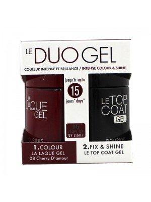 Wholesale Bourjois Le Duo Gel Nail Varnish Set - Cherry D'amour & Top Coat