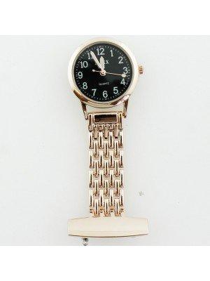 BOXX Fashion Fob Watch - Rose Gold & Black