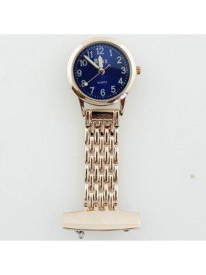 BOXX Fashion Fob Watch - Rose Gold & Blue