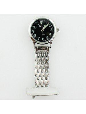 BOXX Fashion Fob Watch - Silver & Black