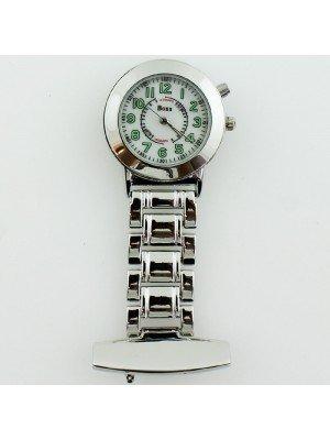 BOXX Fashion Fob Watch - Silver & White