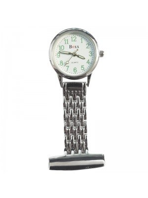 BOXX Fashion Fob Watch - Silver & White
