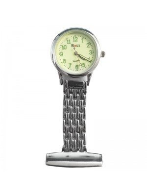 BOXX Glow in the Dark Fashion Fob Watch - Silver