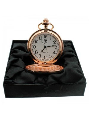 BOXX Pocket Watch with Chain - Rose Gold