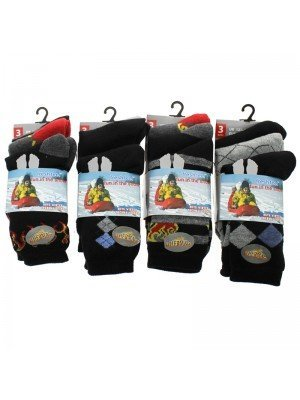 Boy's Winter Thermal Socks  - Assorted Colours (UK 12.5 - 3.5)