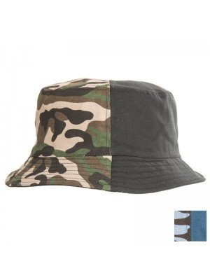 Boys Camo Bucket Hat - Assorted Colours