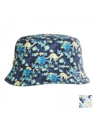Boys Dinosaur Print Cotton Bucket Hat Assortment