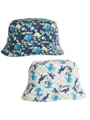 Wholesale Boys Dinosaur Print Cotton Bucket Hat Assortment