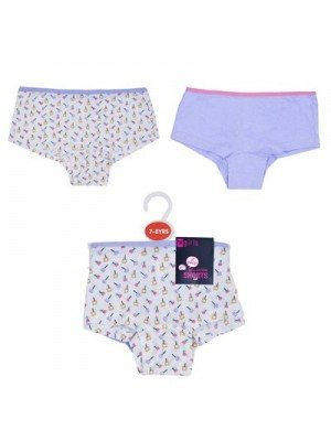 Girls 2 Pack Hipster Briefs- Assorted Colours & Sizes