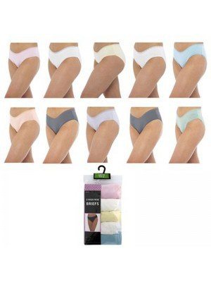 Wholesale Ladies Anucci High Rise Briefs - Assorted Colours & Sizes