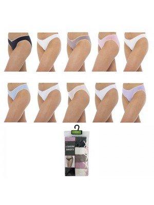 Wholesale Ladies Anucci Bikini Briefs - Assorted Colours & Sizes