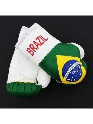 Mini Boxing Gloves - Brazil