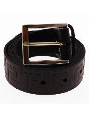 """Men's Labyrinth Belts 1.5"""" Wide - Brown (Large)"""