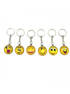 Wholesale Trolley Coin Keyrings - Emoji's