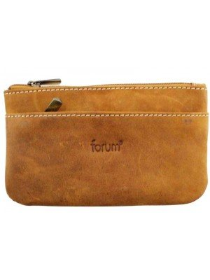Genuine Forum Leather Coin Purse - Light Brown