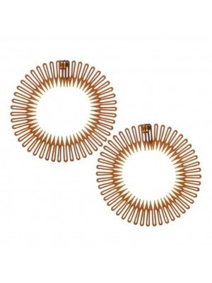 Wholesale Pack of 2 Zig Zag Flexi Combs - Brown
