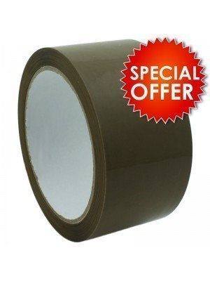Brown Packing Tape - 6 Rolls (48mm x 66meters)