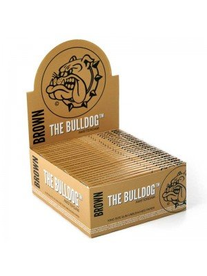 Wholesale The Bulldog King Size Slim Unbleached Paper - Brown