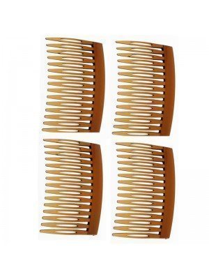 Large Slide Hair Combs (Brown)