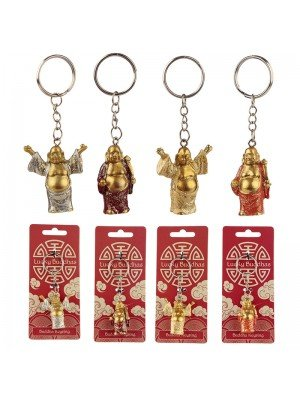 Lucky Buddha Glitter Keyring