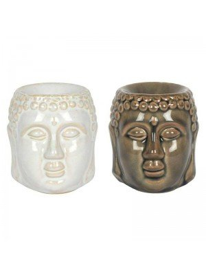 Wholesale Buddha Crackle Glaze Oil Burner - Assorted Colours