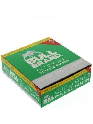 Wholesale Bull Brand Standard Cut Corner Rolling Papers - 100 Booklets