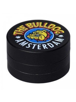Wholesale 3-Part The Bulldog Amsterdam Metal Grinder - Black