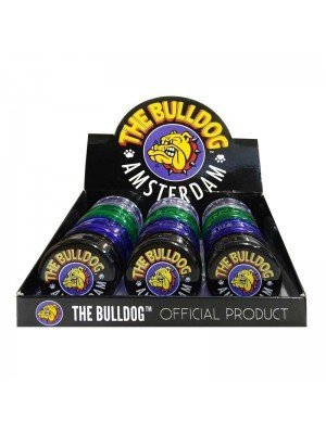 Wholesale 3-part Plastic Grinders - The Bulldog - Assorted Colours