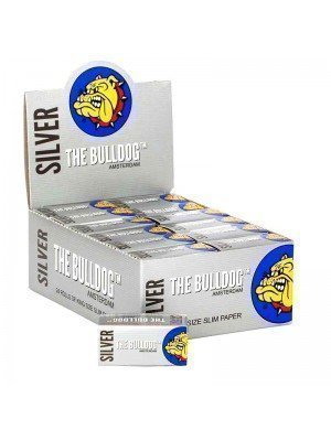Wholesale The Bulldog King Size Slim Rolls - Silver