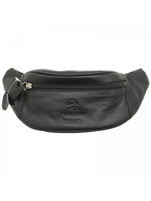 Wholesale Genuine Leather Bum Bag with 3 Zipped Compartments
