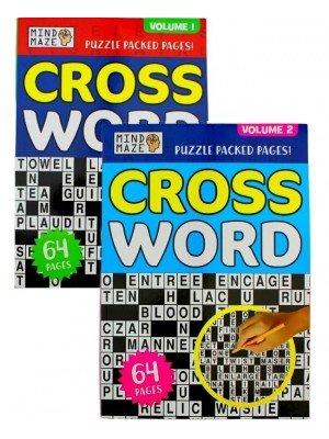 Wholesale Bumper A4 Crossword Puzzle Book - Assorted