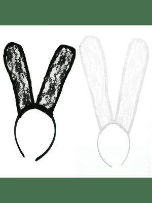Lace Bunny Ears Headbands